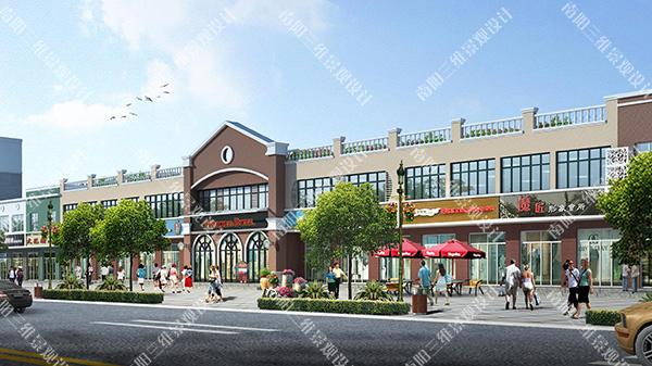 街景改造,沿街建筑立面改造,沿街立面综合整治,南阳效果图制
