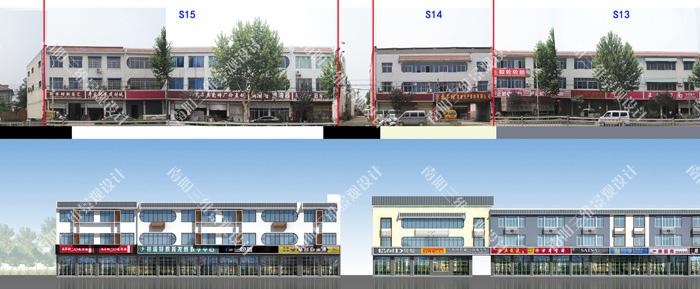 新野县大桥路沿街建筑立面改造规划设计方案